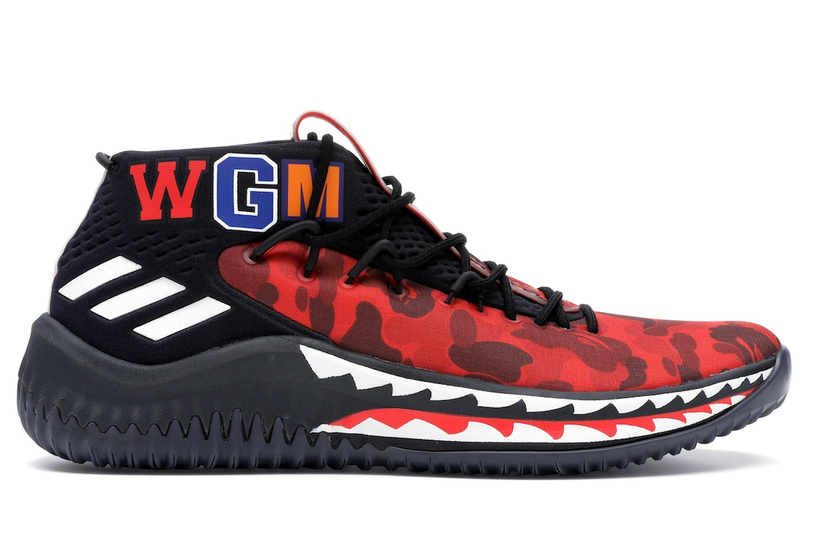adidas Dame 4 A Bathing Ape Red - Sneakers