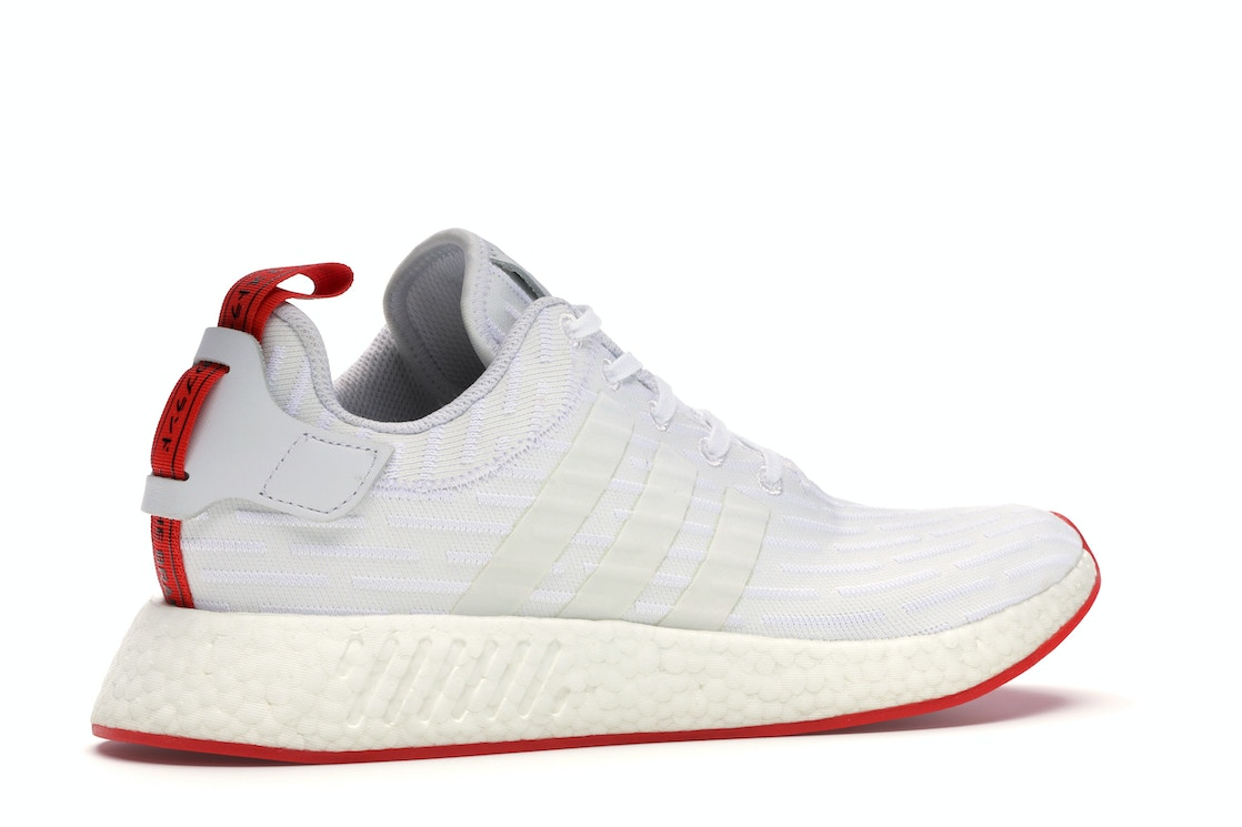 Adidas Nmd R2 White Core Red Two Toned Ba7253