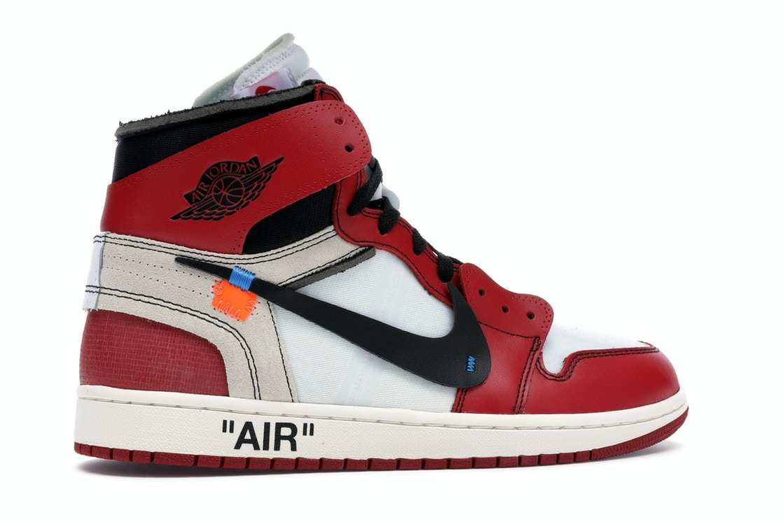 air force 1 off white red