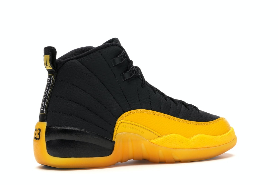 Jordan 12 Retro Black University Gold Gs 153265 070