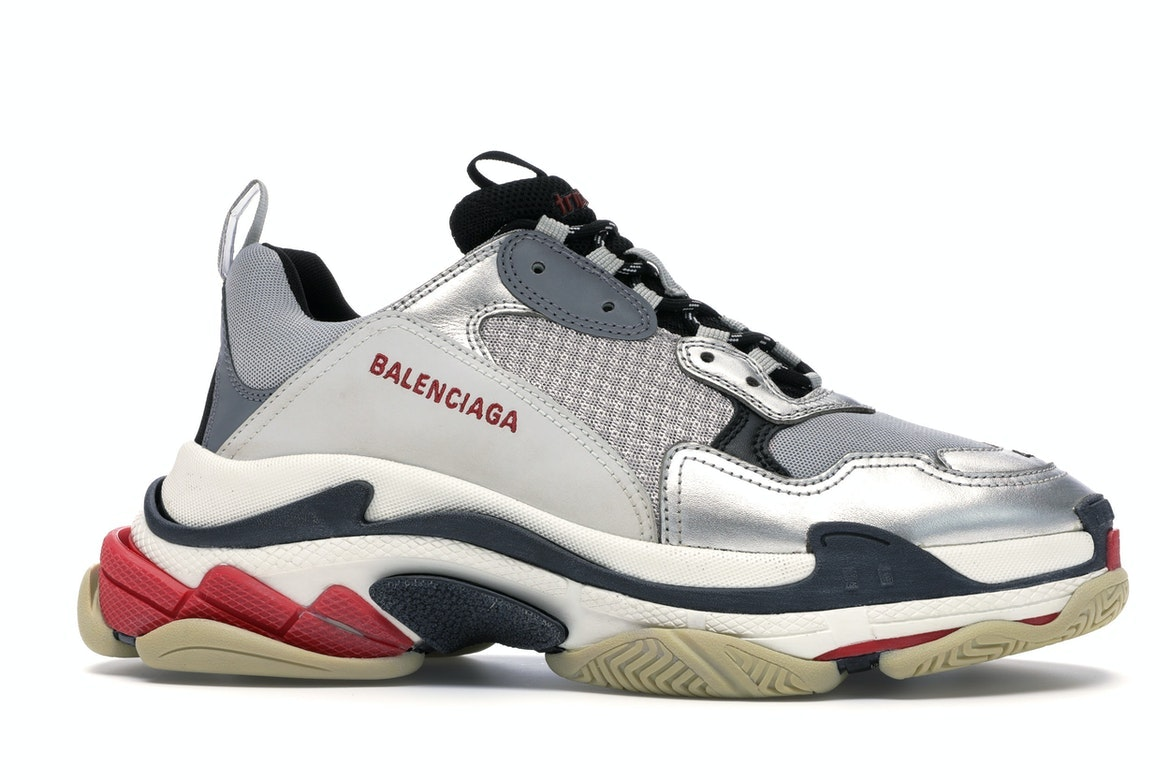 Balenciaga Triple S Silver Red (2018