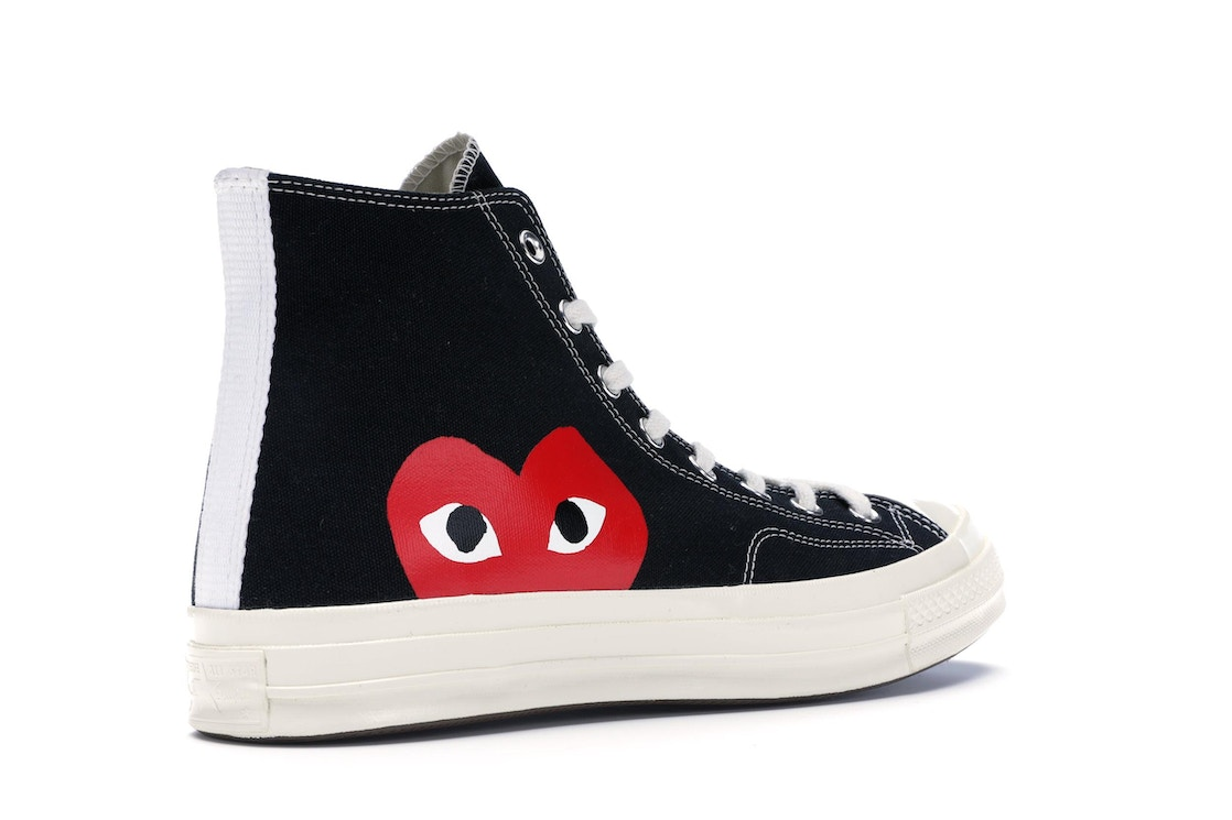 dulce Dictadura Informar  Converse Chuck Taylor All-Star 70s Hi Comme des Garcons PLAY Black - 150204C