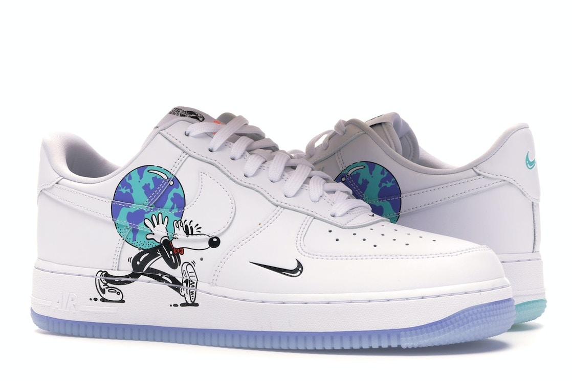 sufrir Hacer frecuentemente  Nike Air Force 1 Flyleather Steve Harrington Earth Day (2019) - CI5545-100