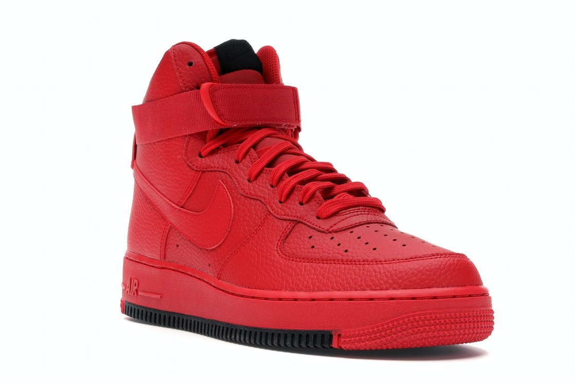 Nike Air Force 1 High University Red Black Ao2440 600