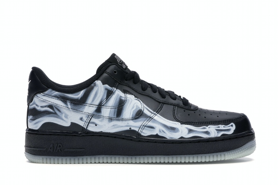 Nike Air Force 1 Low Black Skeleton Bq7541 001
