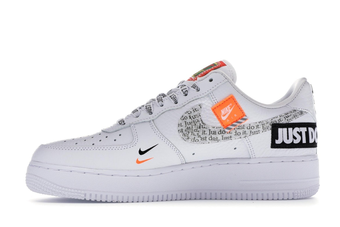 nike air force 1 just do it blanche