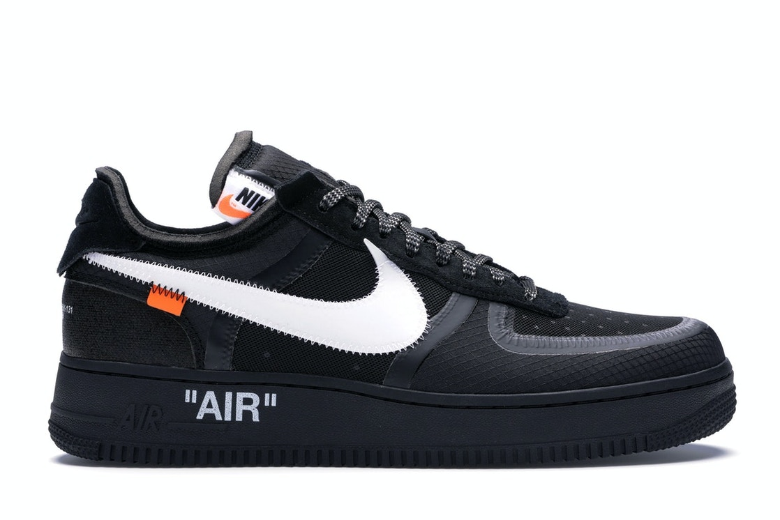 Nike Air Force 1 Low Off White Black White Ao4606 001