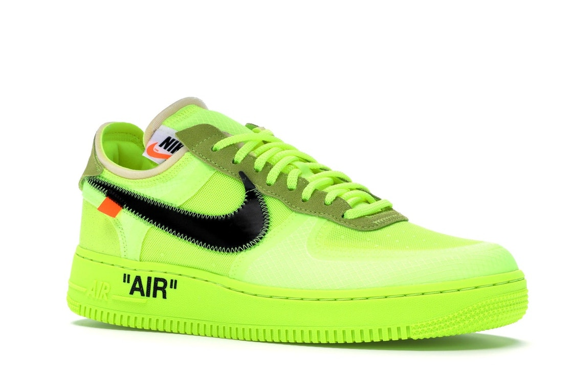 Amabilidad Panadería perder  Nike Air Force 1 Low Off-White Volt - AO4606-700
