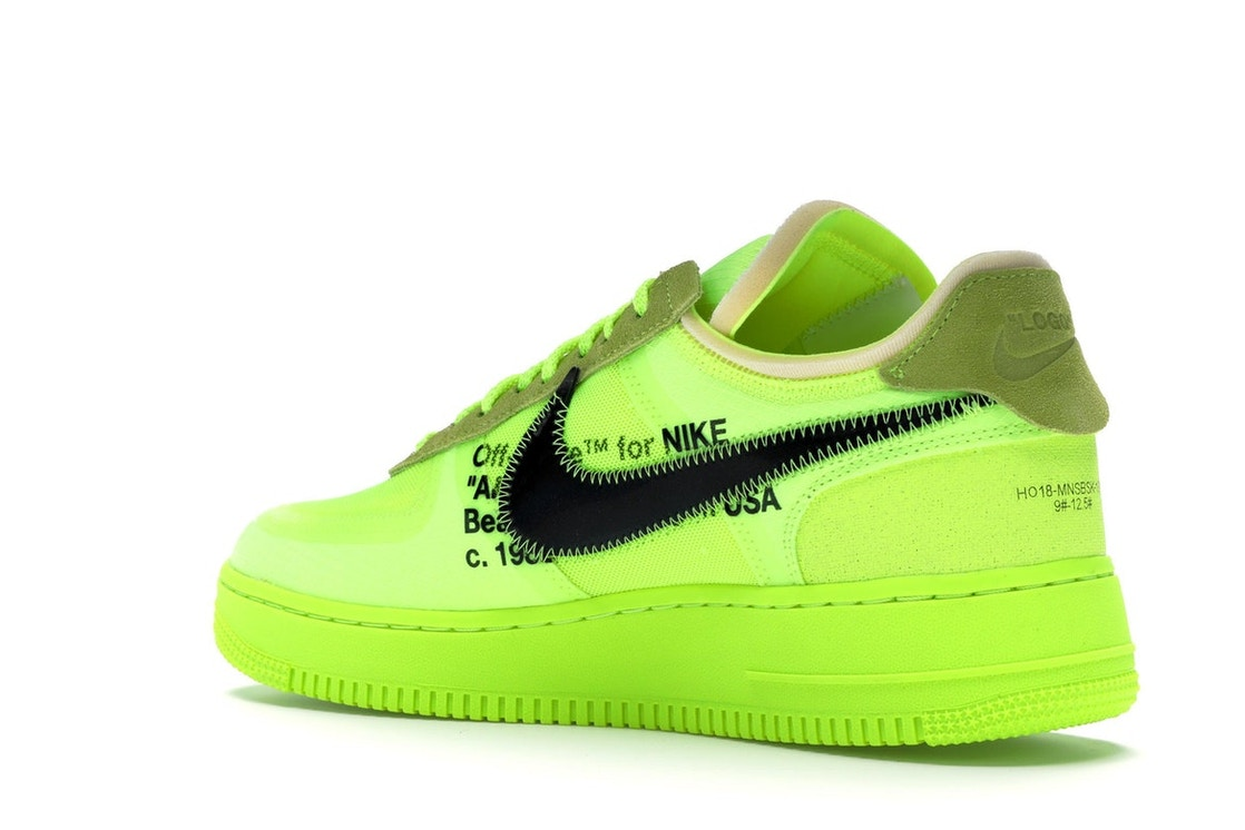 Cierto Previamente pureza  Nike Air Force 1 Low Off-White Volt - AO4606-700