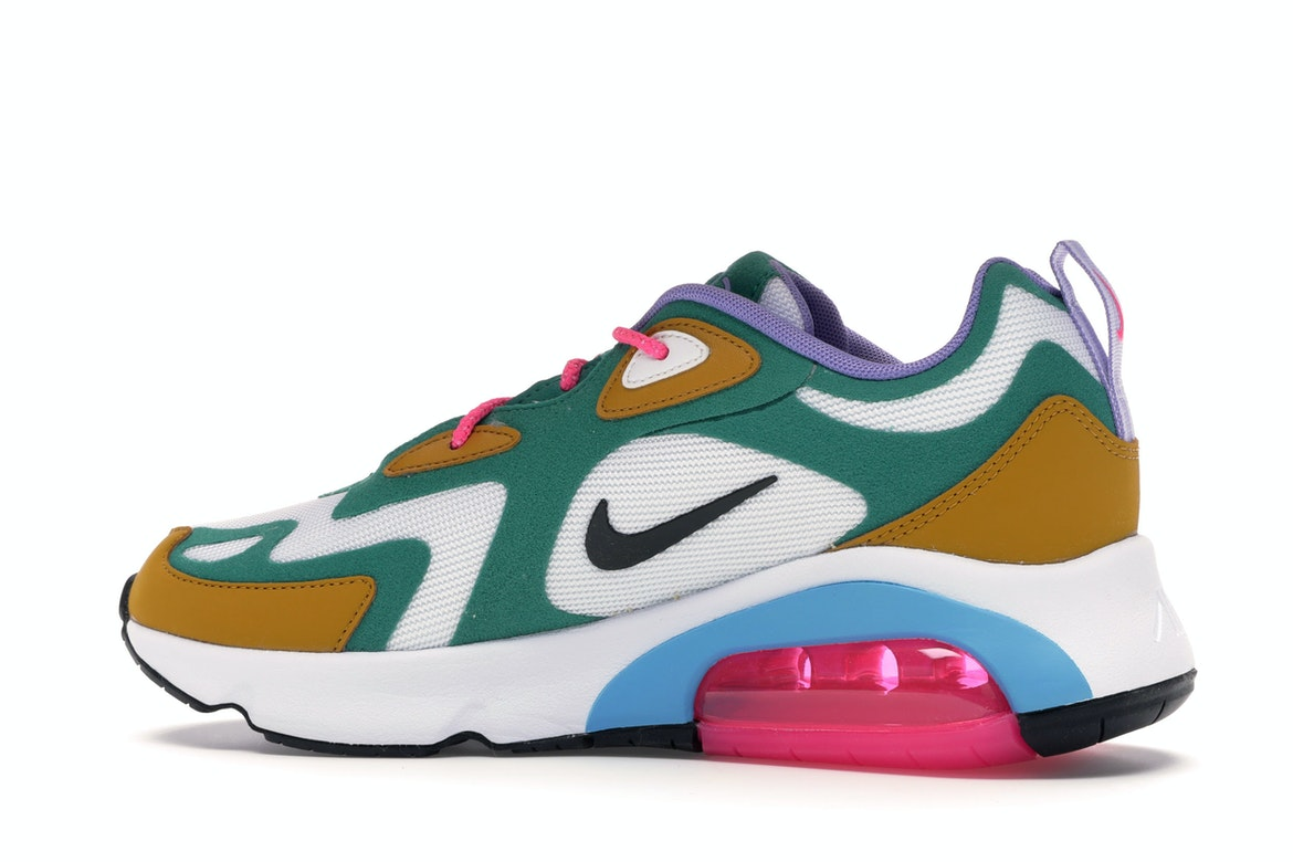 NEW Nike Women AIR MAX 200 Mystic Green White Gold Suede AT6175 300 $140 Retail