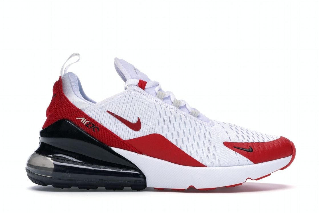 Nike Air Max 270 White Anthracite University Red Cj0550 100