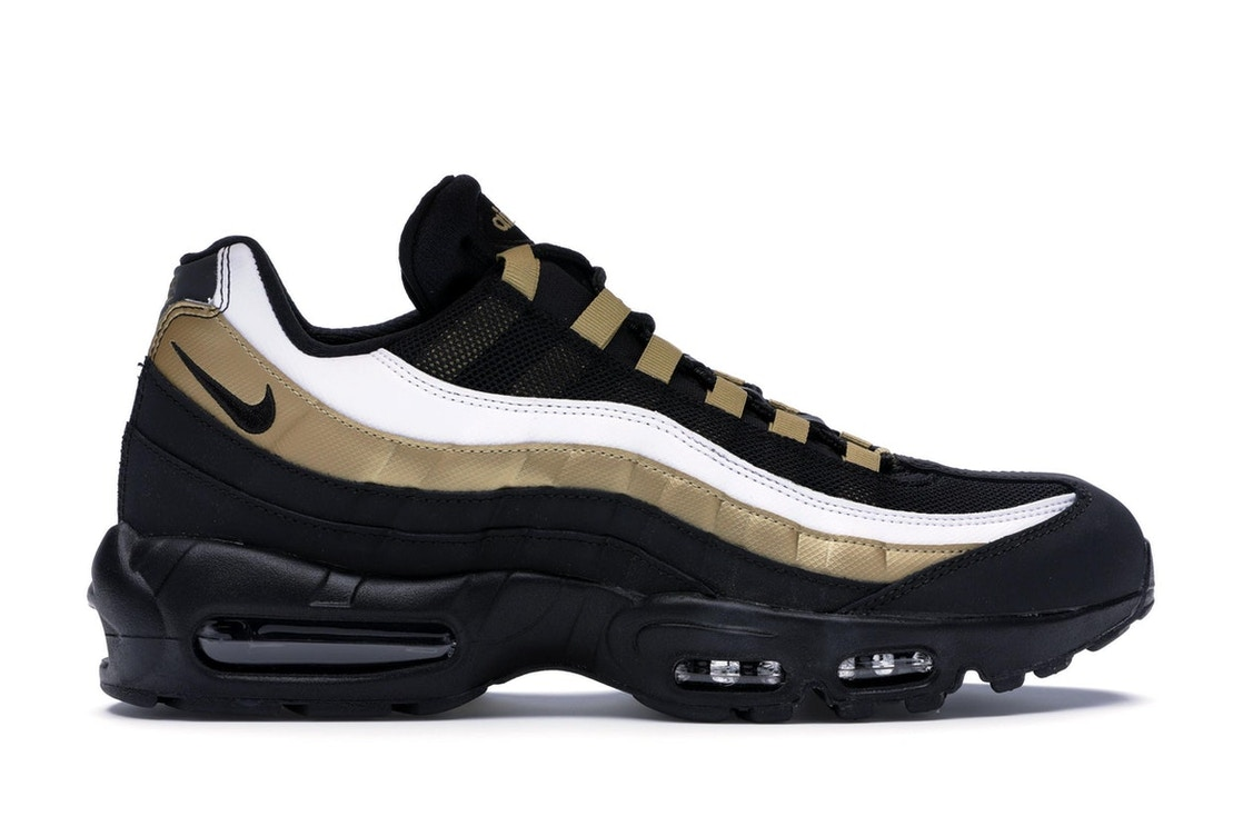 Saga Risa heredar  Nike Air Max 95 OG Black Metallic Gold White - AT2865-002