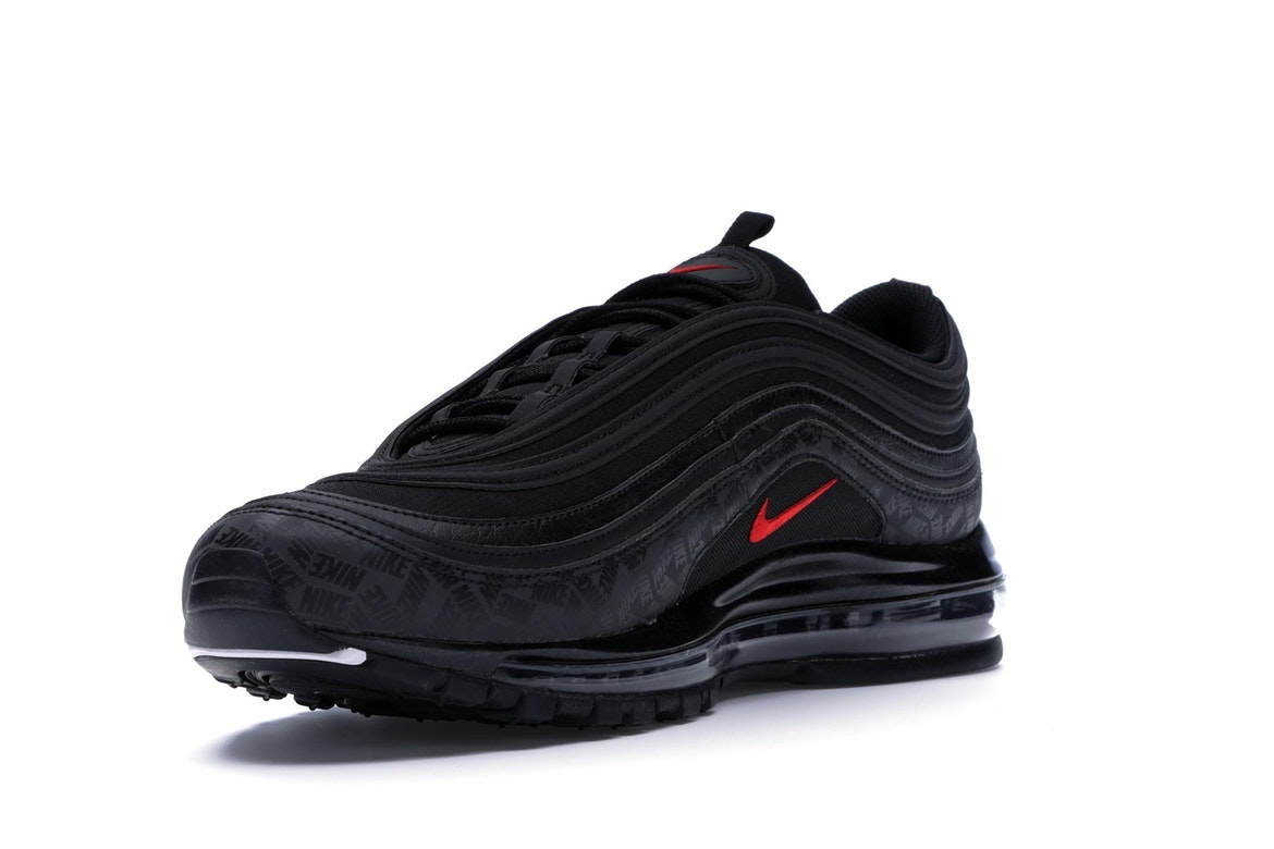 nike air max 97 black and red tick