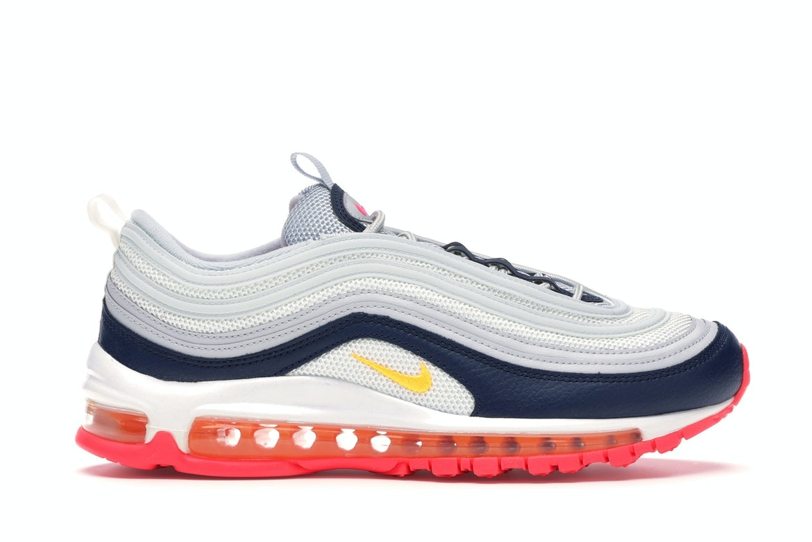 nike air max 97 navy blue and white
