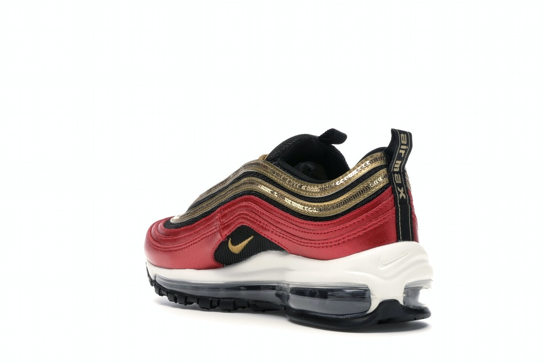 Nike Air Max 97 Red Gold Sequin W Ct1148 600