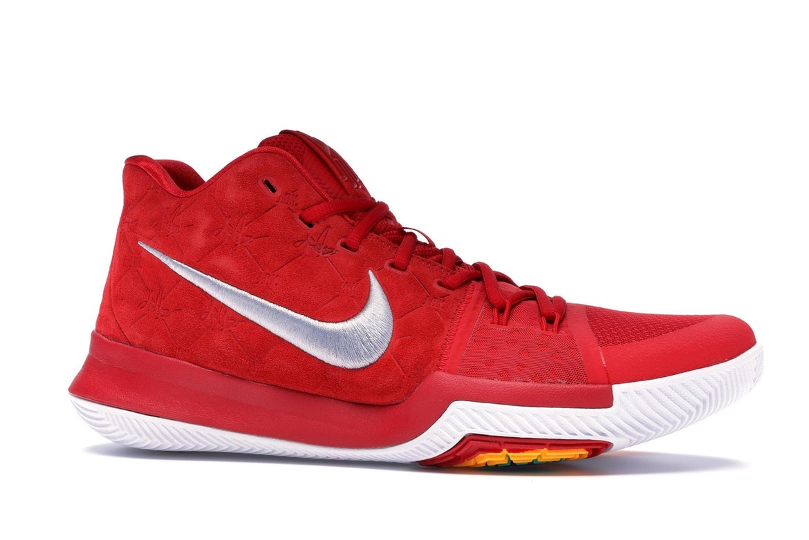Nike Kyrie 3 Red Suede - 852395-601