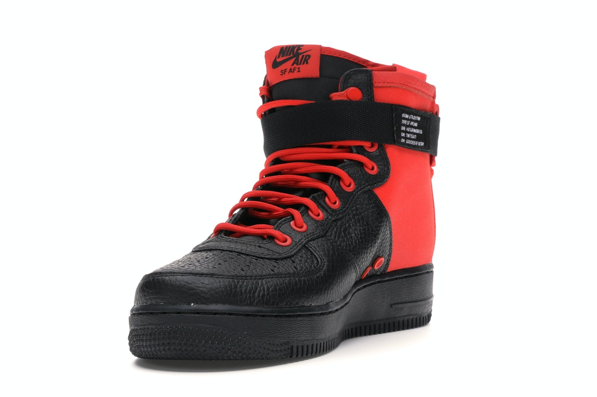 Nike SF Air Force 1 Mid Habanero Red