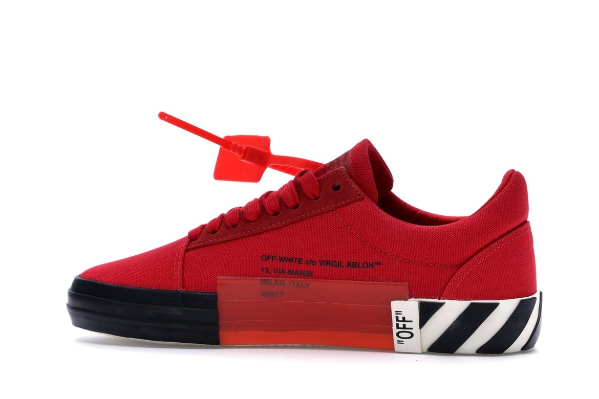 OFF-WHITE Vulc Low Red