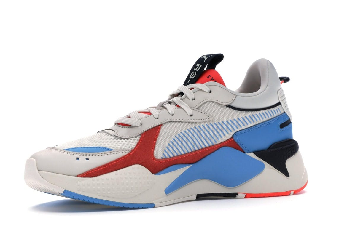 Puma x Reinvention RS-X Whisper White Red Blast Sneakers 369579 02 Size 4-12