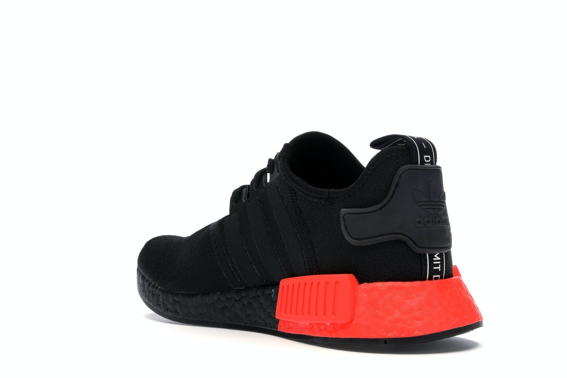 adidas NMD R1 Core Black Solar Red - EE5107