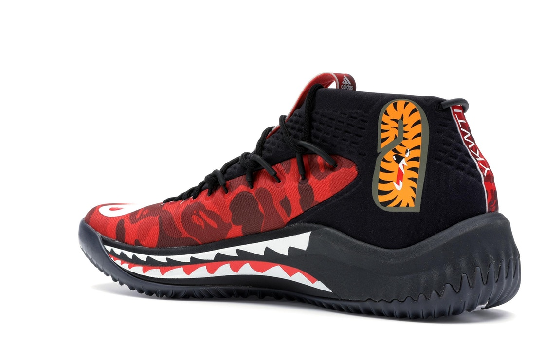 new products 0b159 256b6 adidas Dame 4 A Bathing Ape Red - TBD