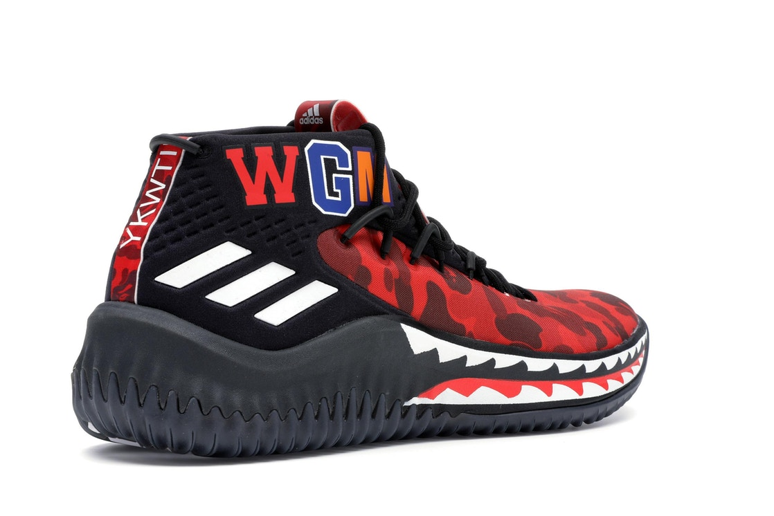 fca06fccf0ba adidas Dame 4 A Bathing Ape Red - TBD