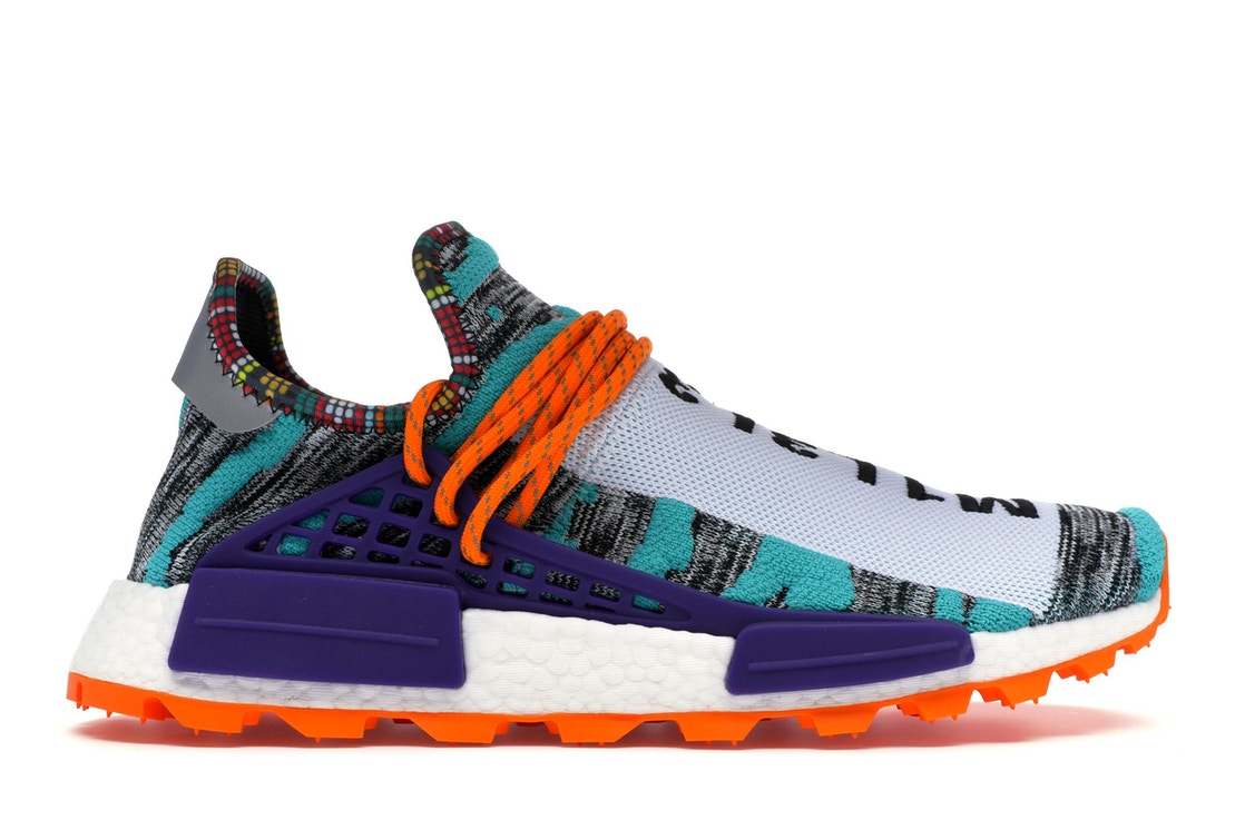 best loved a4d5f 5e73b adidas NMD Hu Pharrell Solar Pack Orange