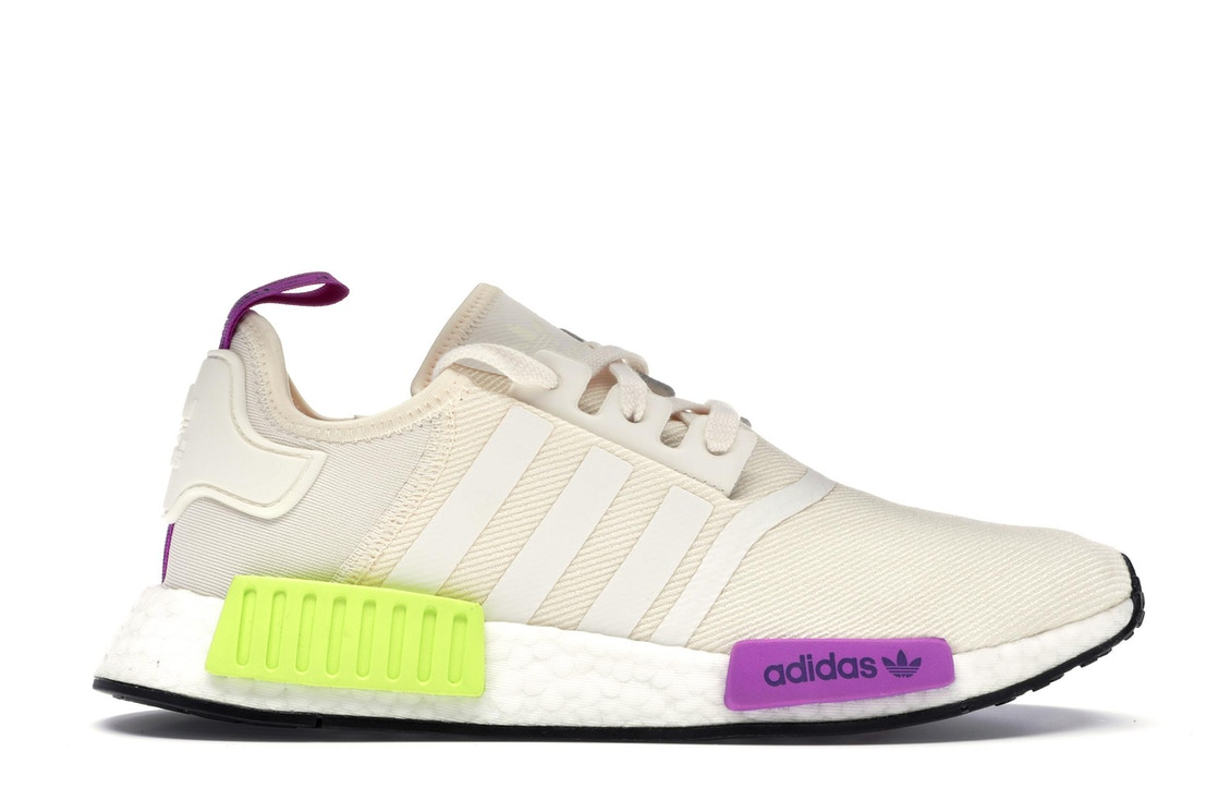 697b133d9847c adidas NMD R1 Chalk White Semi Solar Yellow - D96626