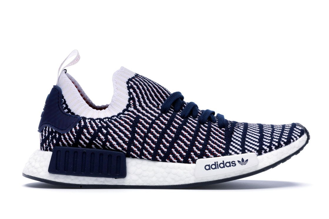 0065cf881 adidas NMD R1 STLT Navy White Red - D96821