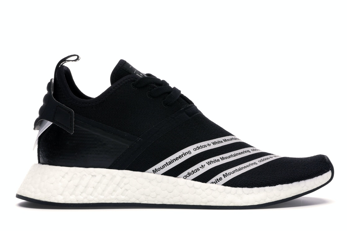 finest selection b74db fcaa3 adidas NMD R2 White Mountaineering Black