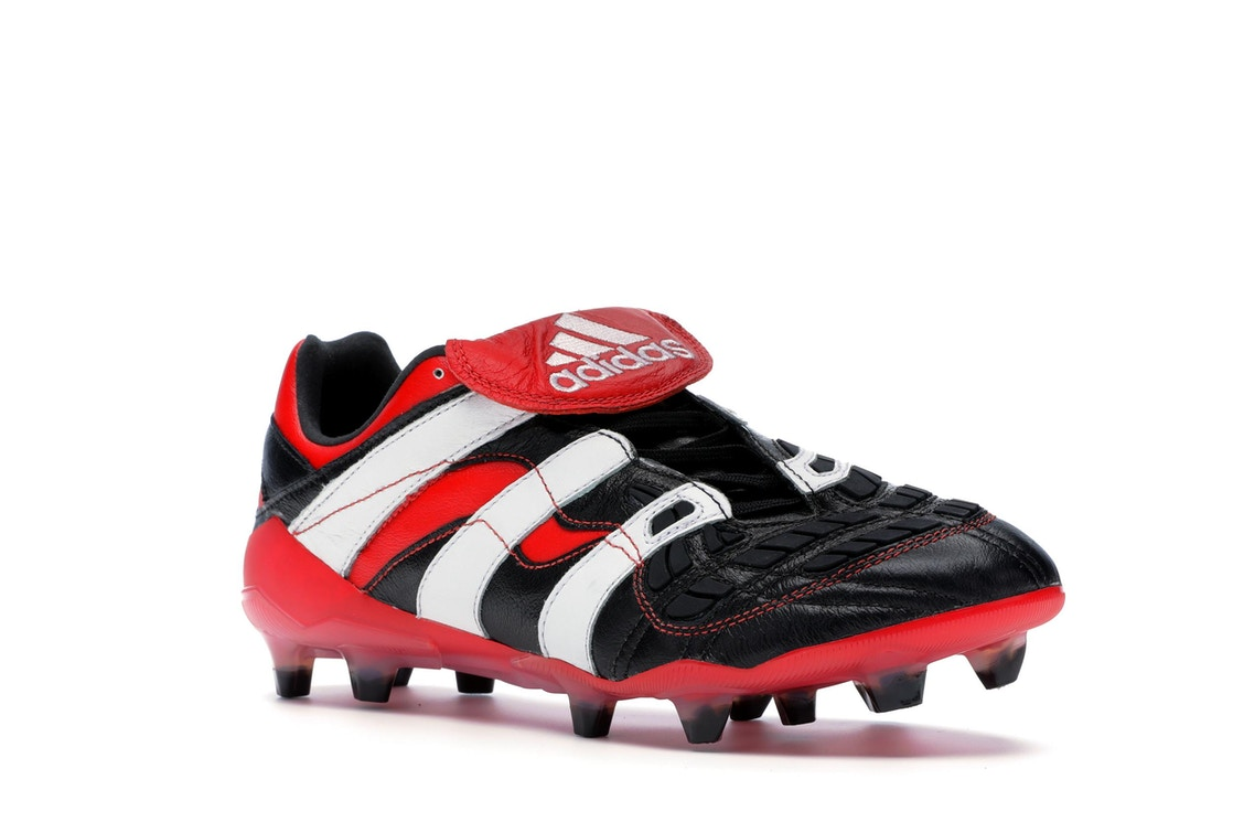 bb884c13bd3 adidas Predator Accelerator Firm Ground Cleat Black White Red - D96665