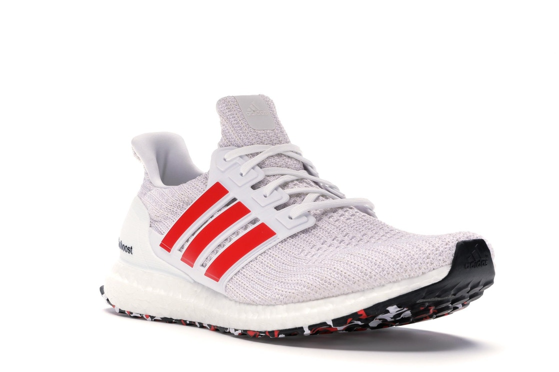 a7ef440ae82 adidas Ultra Boost 4.0 Cloud White Active Red - DB3199