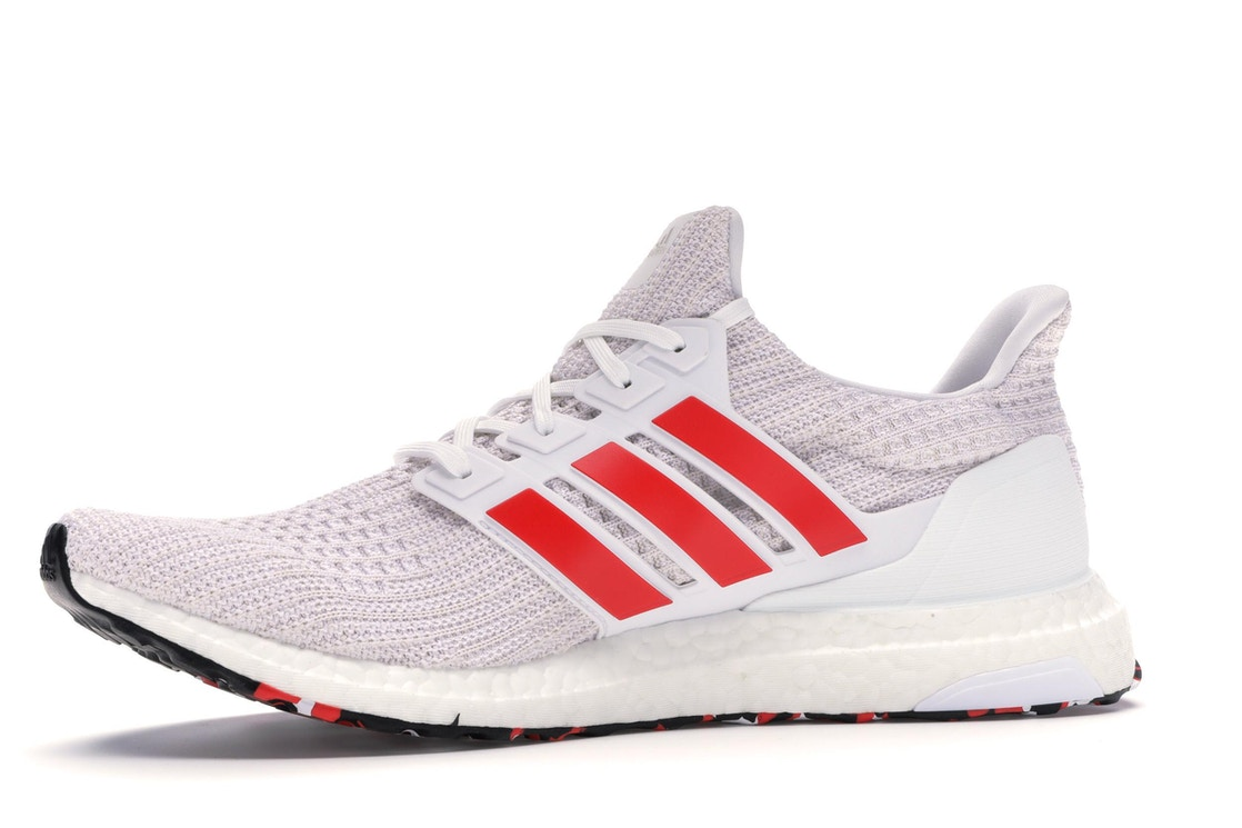 best loved 18b13 11018 adidas Ultra Boost 4.0 Cloud White Active Red