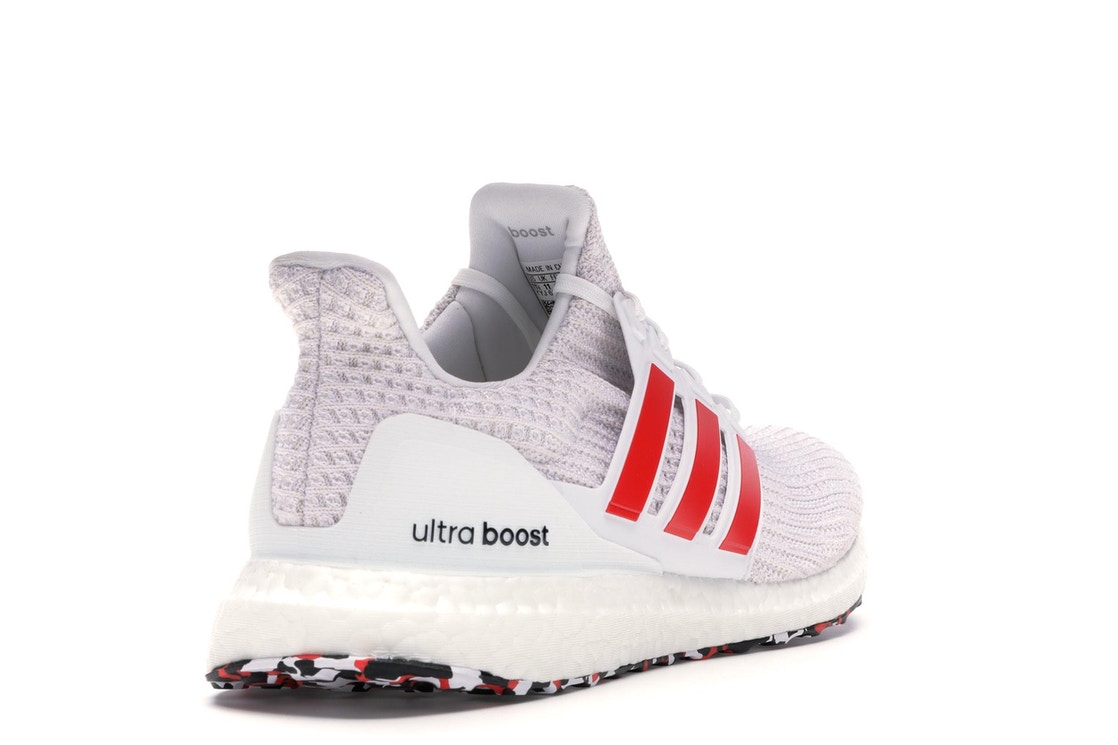 35417fdbb adidas Ultra Boost 4.0 Cloud White Active Red - DB3199