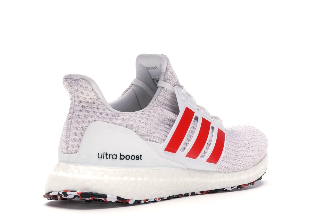 947d9a4fb4f adidas Ultra Boost 4.0 Cloud White Active Red - DB3199
