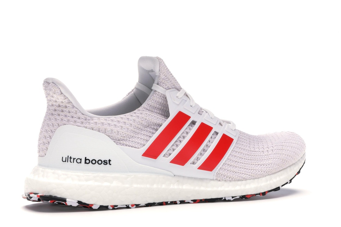best loved a6ece fb4fe adidas Ultra Boost 4.0 Cloud White Active Red