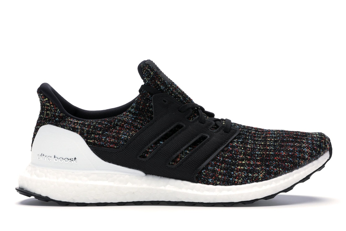 d1bfc152f6b20 adidas Ultra Boost 4.0 Black Multi-Color White Heel Cage - F35232