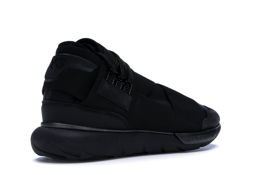 innovative design 9c202 64350 Y3 Qasa High Triple Black - S83173