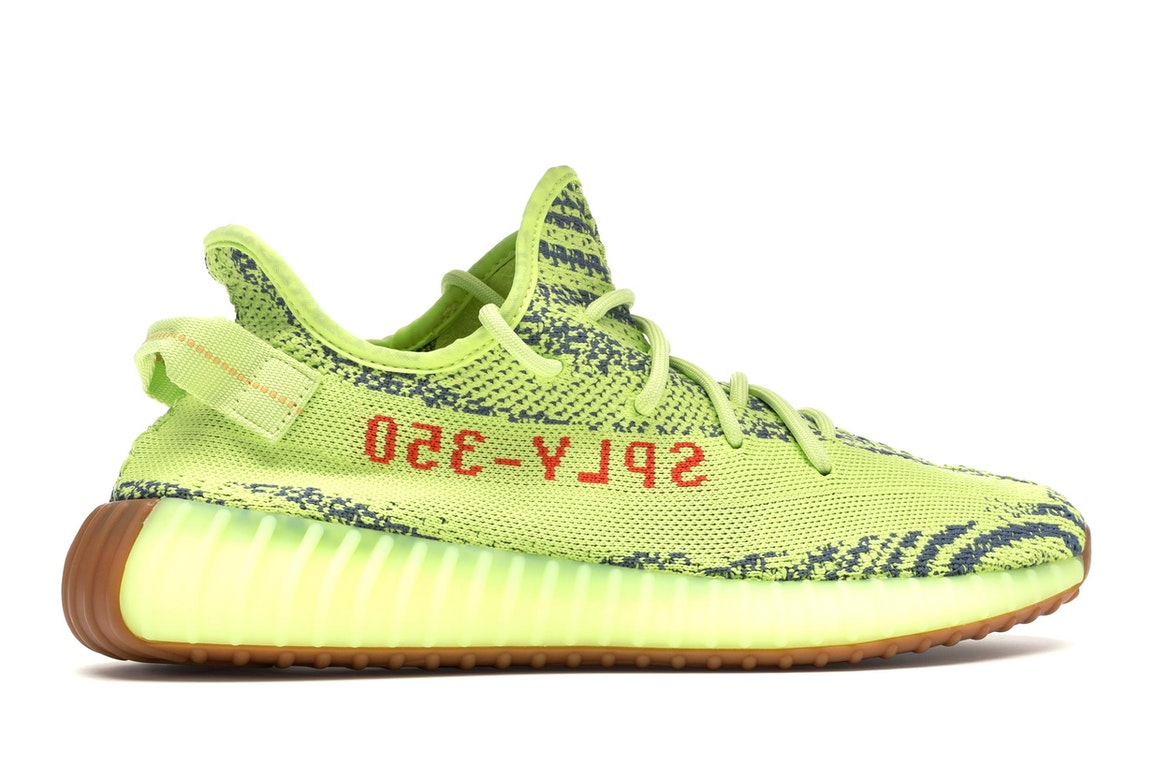 adidas yeezy boost 350 v2 semi frozen yellow & raw steel