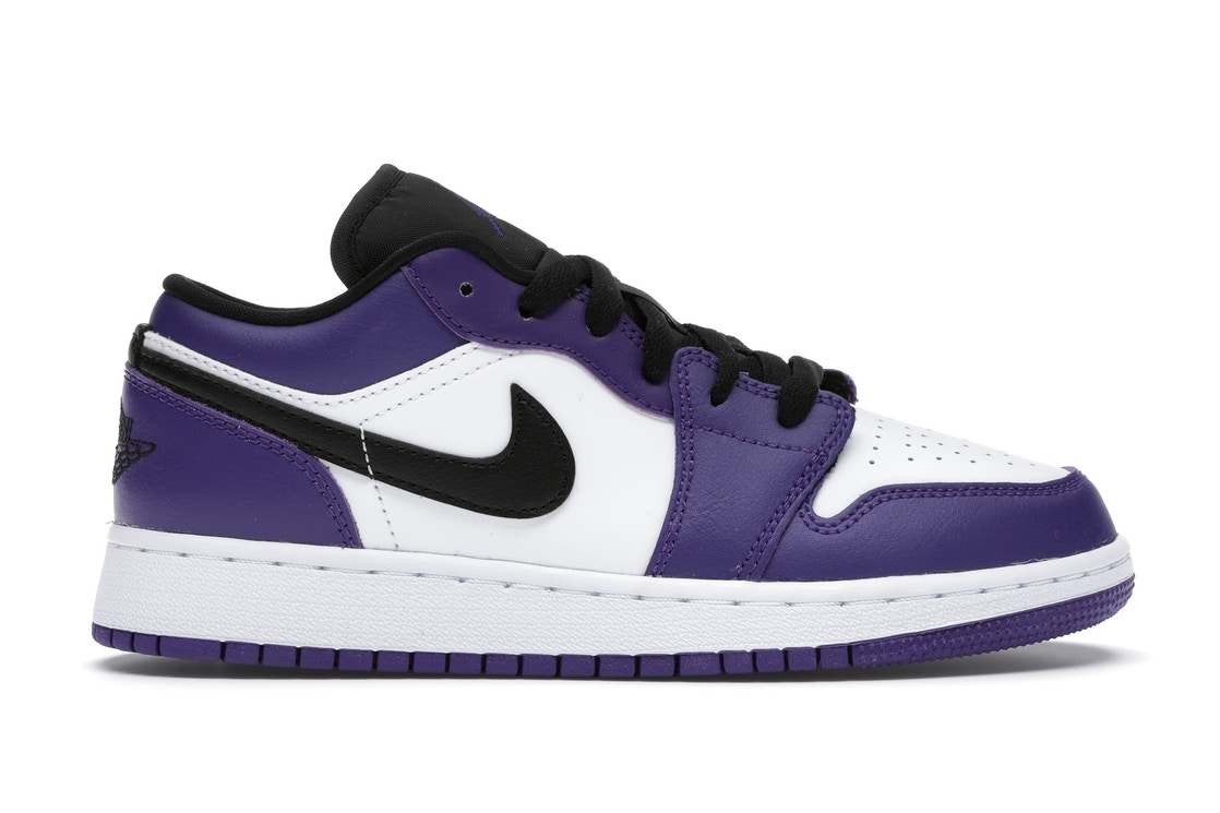 Jordan 1 Low Court Purple White Gs 553560 500