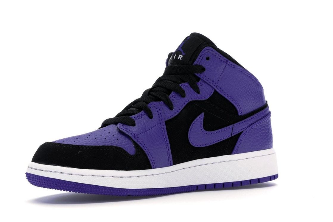new product f953b 99fe0 Jordan 1 Mid Black Dark Concord (GS) - 554725-051