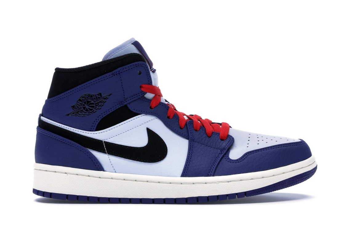 buy online f51f4 90ba0 Jordan 1 Mid Deep Royal Blue Black - 852542-400