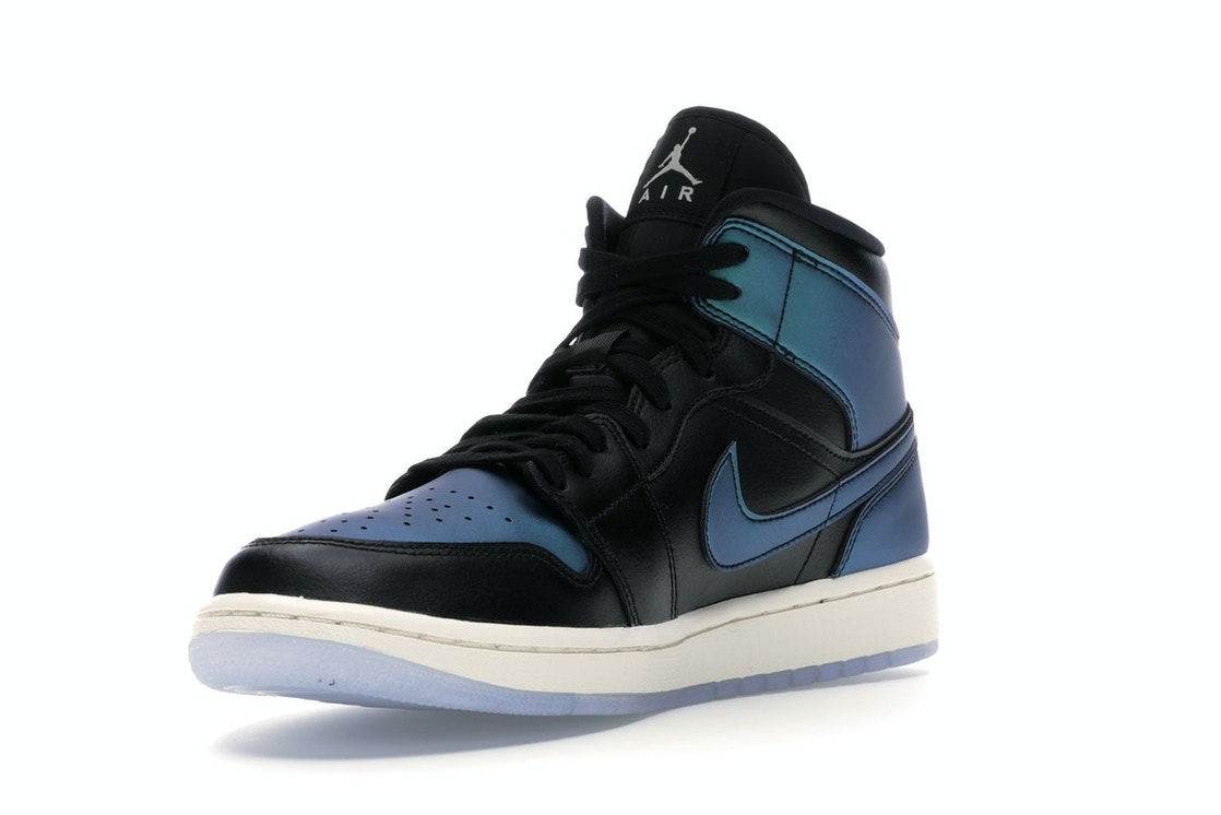 multiple colors 2018 shoes get online Jordan 1 Mid Iridescent Black (W)