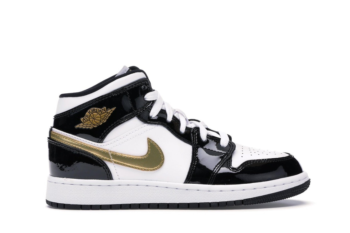 513cf4ead563ce Sell. or Ask. Size  3.5Y. View All Bids. Jordan 1 Mid Patent Black White  Gold (GS)