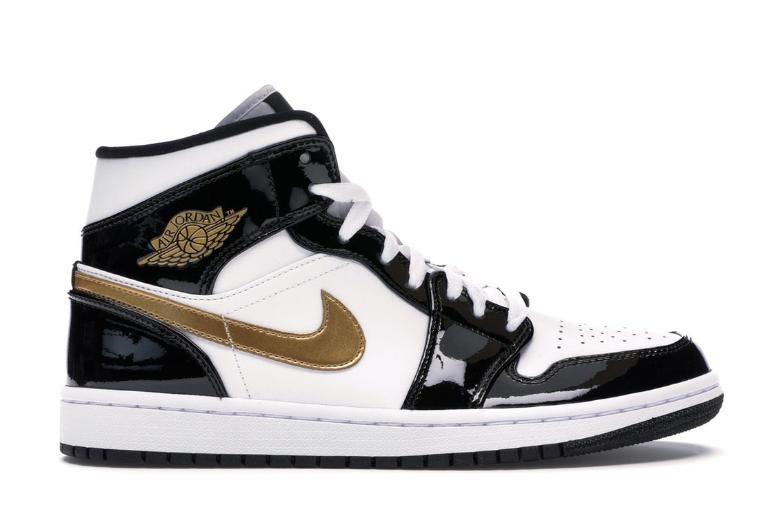 147261ffa3f3 Sell. or Ask. Size 7. View All Bids. Jordan 1 Mid Patent Black White Gold