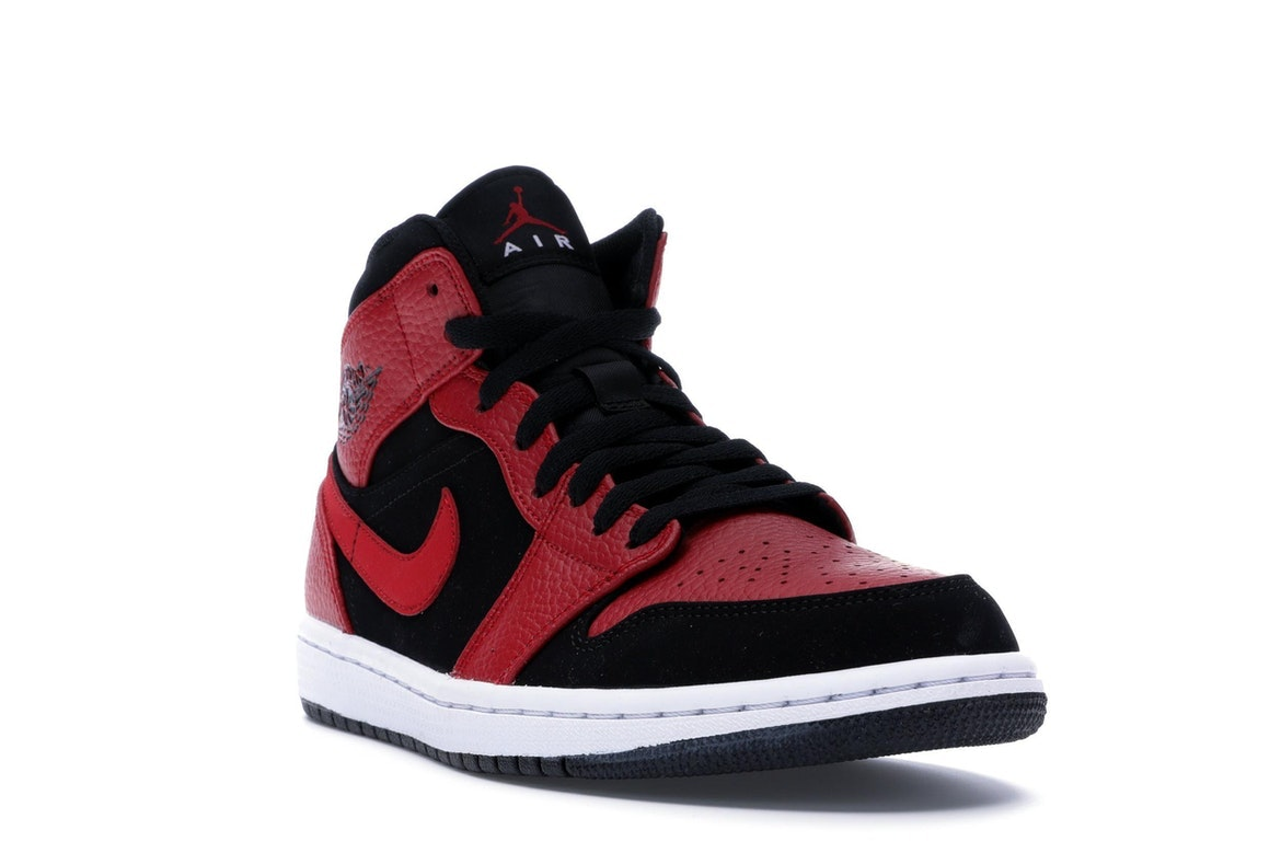 new style 9a1b0 d940f Clothing, Shoes   Accessories Nike Air Jordan 1 Mid Bred Black Gym Red  White Men Shoes 554724-054 ...