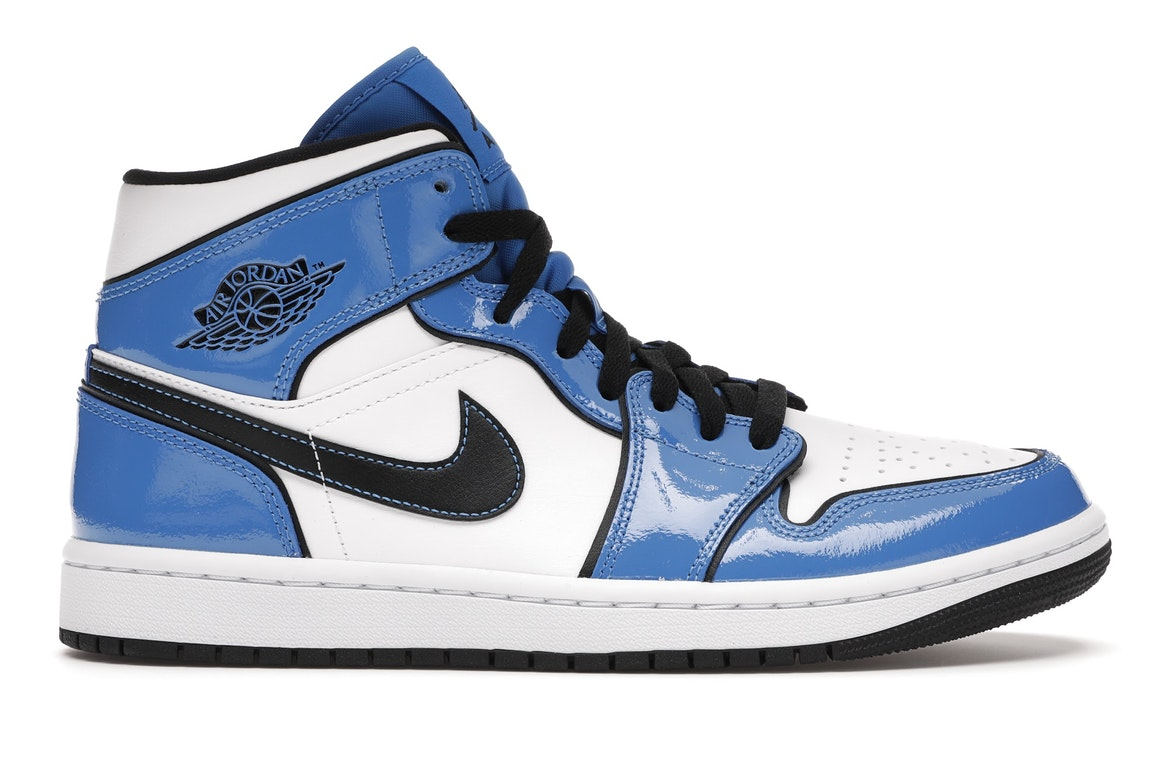 air jordan mid bleu