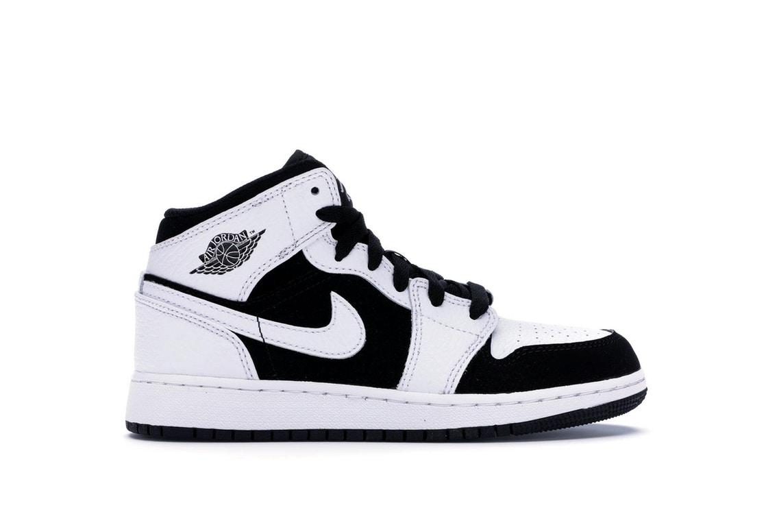 buy popular 6dedd 25f95 Jordan 1 Mid White Black (GS)