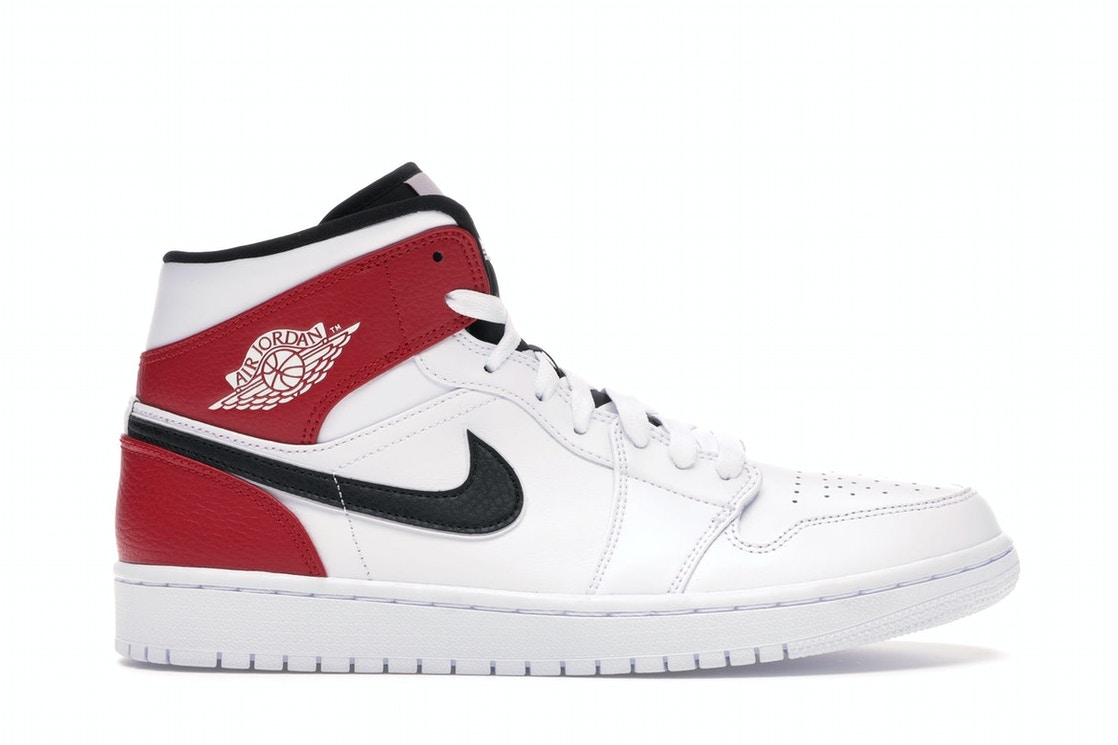 new concept f3343 dc05d Jordan 1 Mid White Black Gym Red