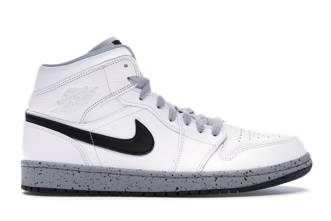 brand new 21001 b0614 Jordan 1 Mid White Cement